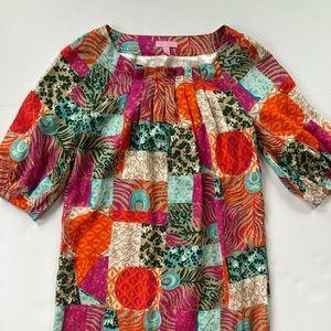 Lilly Pulitzer Silk Patchwork Dress